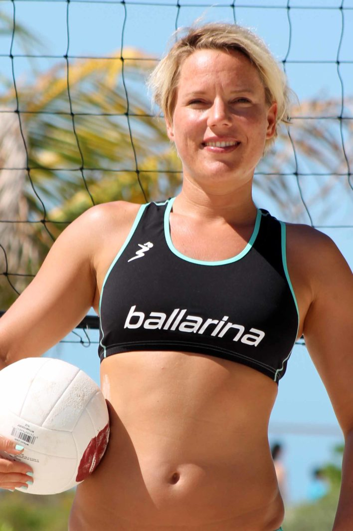 Player Top Aqua green | ballarina Beachvolleyball