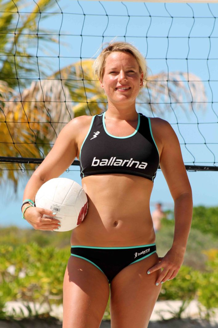 "ballarina Beachvolleyball | Player Uniform ""Tour"" schwarz-aqua green"