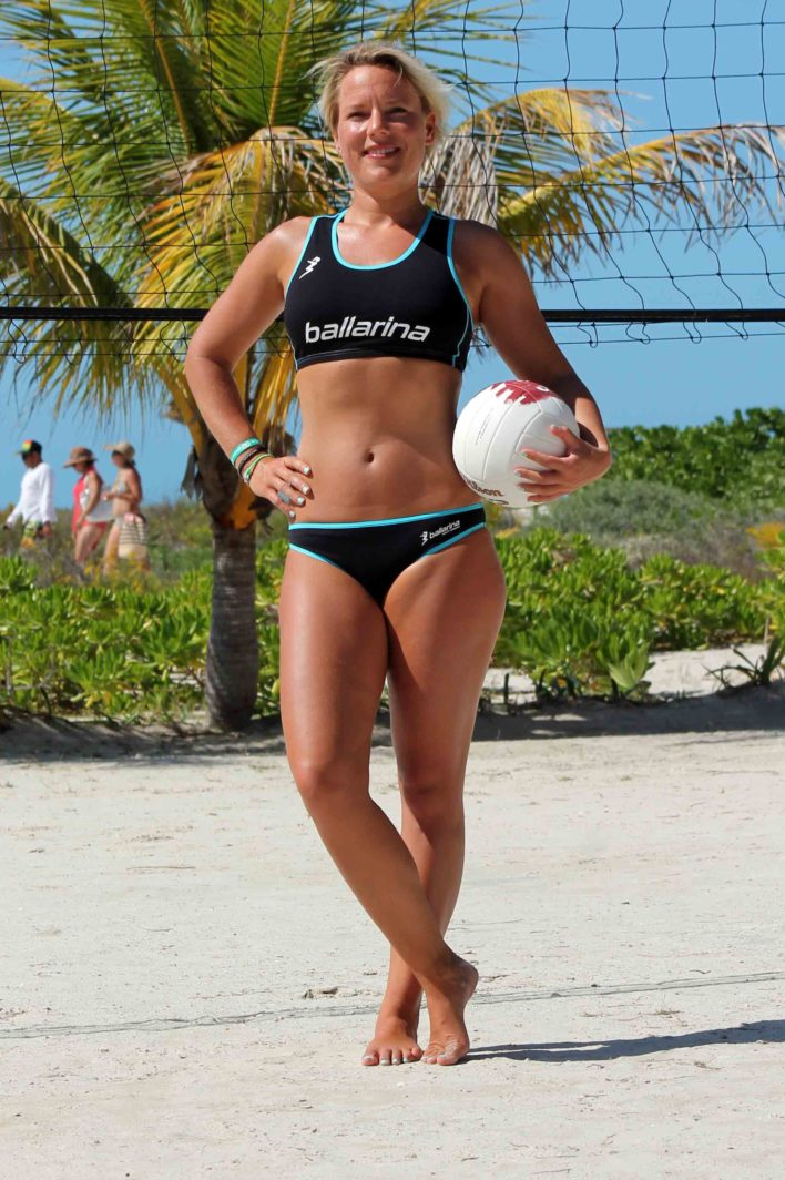 "ballarina Beachvolleyball | Player Uniform ""Tour"" schwarz-scuba blue"