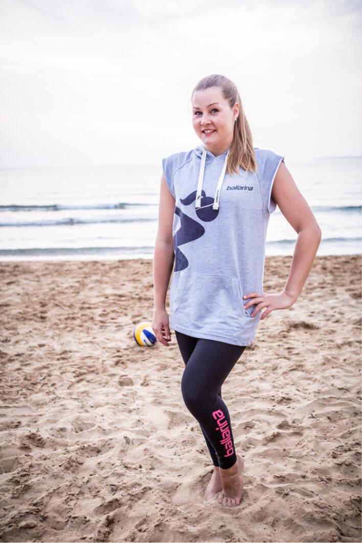 Beach Volleyball Sleeveless Hoodie