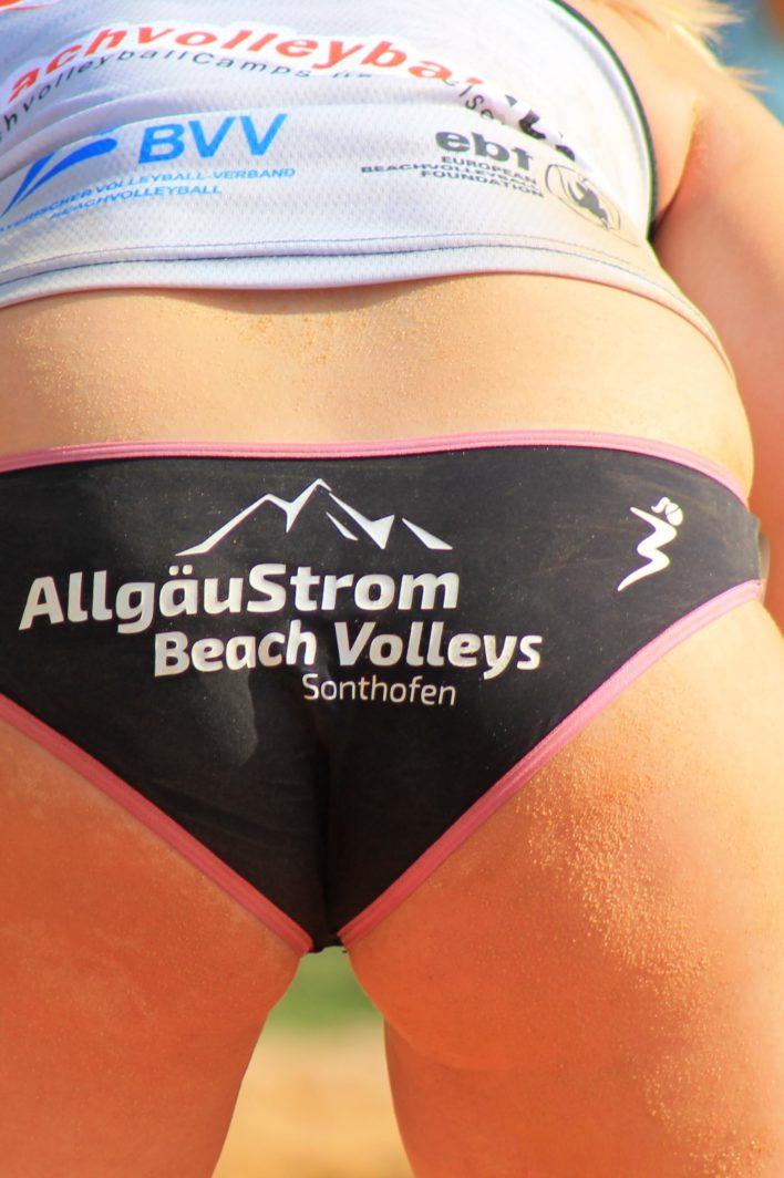 Die original Beachvolleyball Hosen des Beachvolleyballteams Kovarova/Weidl