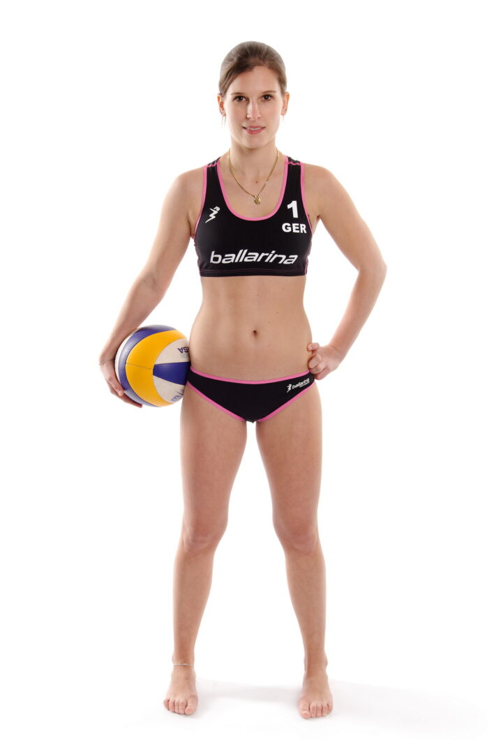 ballarina Beachvolleyball | Players Uniform schwarz-fuchsia