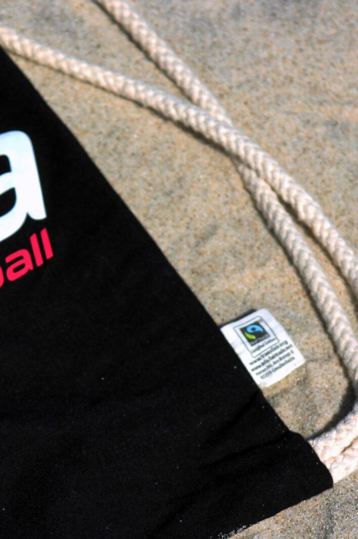 Turnbeutel aus Fairtrade Bio Baumwolle