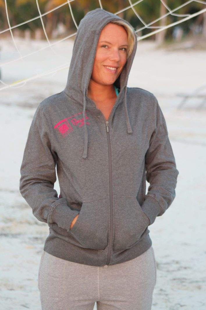 "Beachvolleyball Zip Hoodie ""Chillout"" 