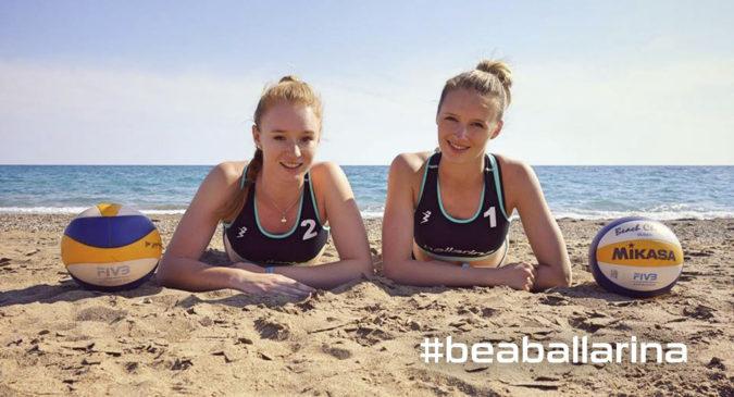 Beachteam Nestler/Seeber trägt ballarina Beachvolleyball