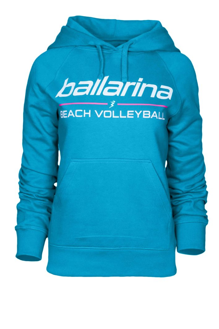 "Beachvolleyball Hoodie ""Blue Flash"" 