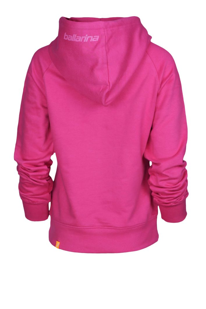 "Beachvolleyball Hoodie ""Pink Flash"" Rückseite | ballarina Beachvolleyball"