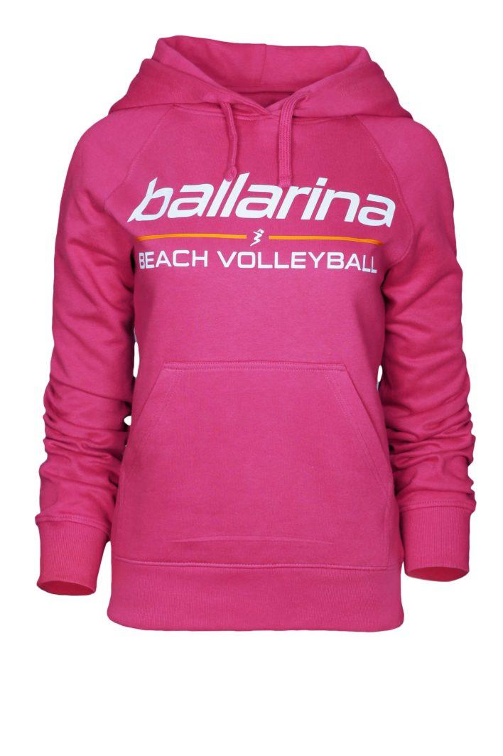 "Beachvolleyball Hoodie ""Pink Flash"" | ballarina Beachvolleyball"
