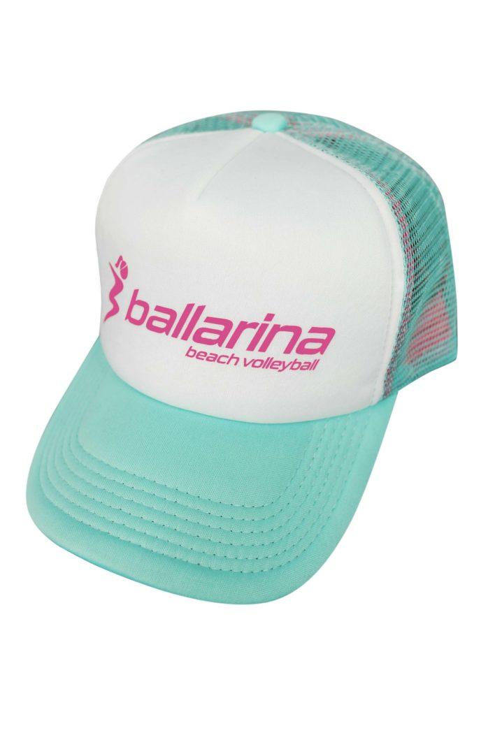 Pink-türkise Schirmmütze für Beacherinnen