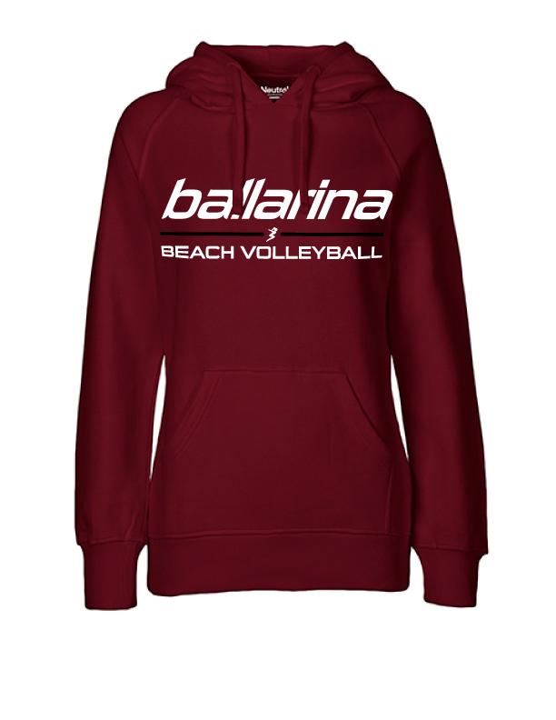 "Beachvolleyball Hoodie ""Bordeaux Flash"" | ballarina Beachvolleyball"