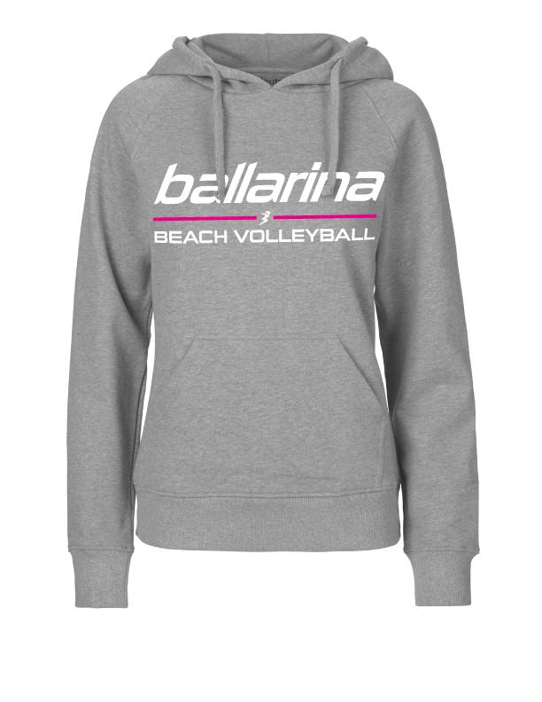 "Beachvolleyball Hoodie ""Grey Flash"" | ballarina Beachvolleyball"
