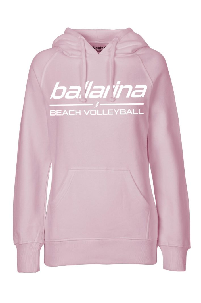 "Beachvolleyball Hoodie ""Pastel Pink Flash"" | ballarina Beachvolleyball"