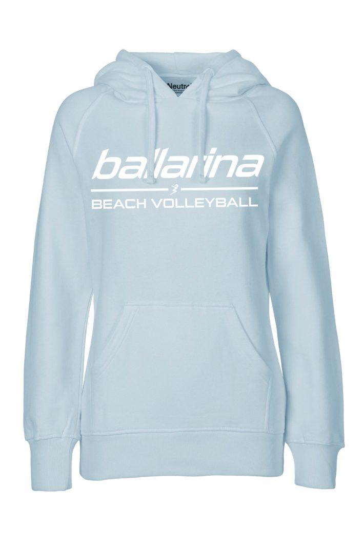 "Beachvolleyball Hoodie ""Pastel blue Flash"" | ballarina Beachvolleyball"