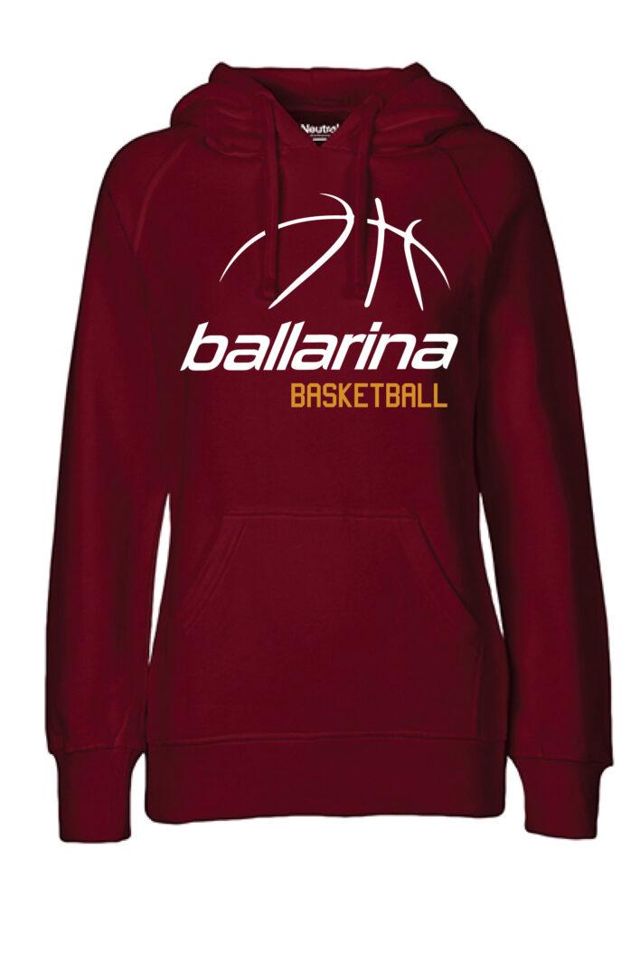 Hoodie Classic BB bordeaux | ballarina Basketball
